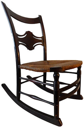 One Kings Lane Vintage Armless Rocking Chair