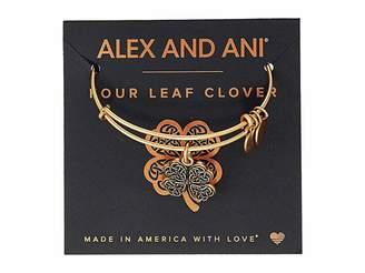 Alex and Ani Path of Symbols-Four Leaf Clover IV Bangle