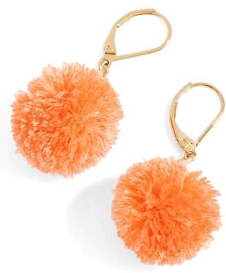 J.Crew J. CREW Pompom Drop Earrings
