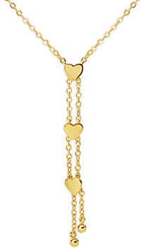 Fashionvictime Kette Halskette Damen - Vergoldet Herz Modeschmuck