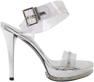 Stuart Weitzman Silver Plastic Sandals