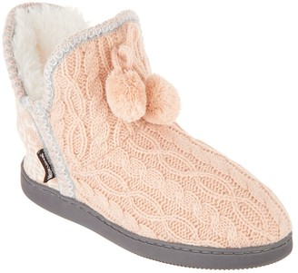 Muk Luks Amira Slipper Boots with Faux Fur Lining