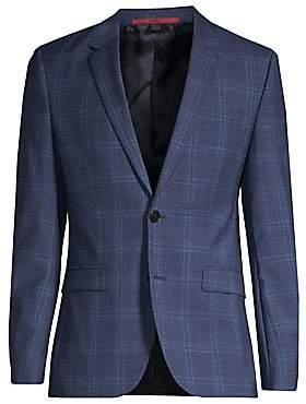 7ee969738 HUGO Men's Astian Extra Slim-Fit Wool Plaid Jacket