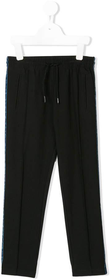 Hose mit Jeans-Streifen