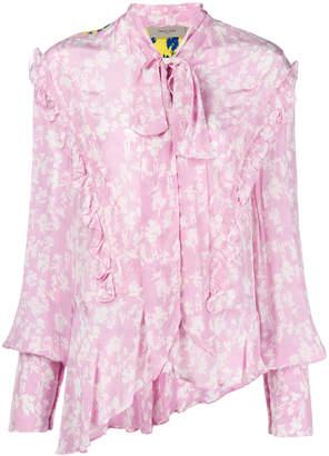 Preen Line contrast floral shirt