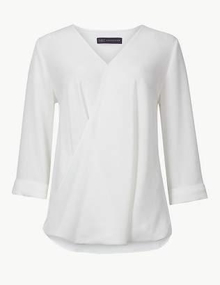 Marks and Spencer Maternity V-Neck 3/4 Sleeve Blouse