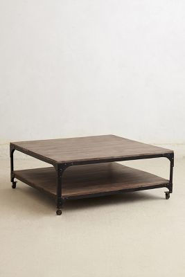 Anthropologie Large Decker Coffee Table