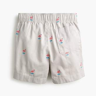J.Crew Boys' Dock critter short in flamingo