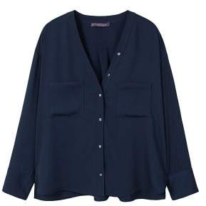 Violeta BY MANGO Pockets flowy shirt