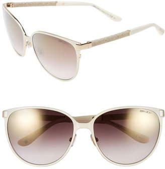 Jimmy Choo 'Posies' 60mm Cat Eye Sunglasses