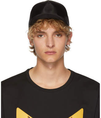 Fendi Black Karligraphy Mesh Cap