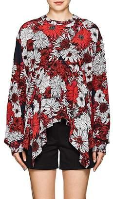 Cédric Charlier Women's Floral Silk Handkerchief Blouse