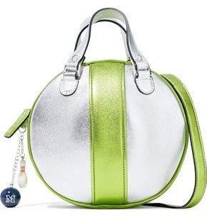 M Missoni Two-Tone Metallic Leather Shoulder Bag