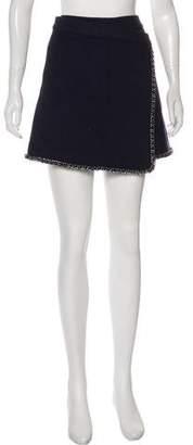 Tory Burch Wool-Blend Mini Skirt