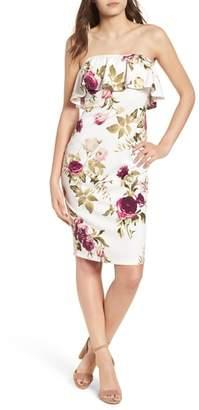 Speechless Strapless Flounce Dress
