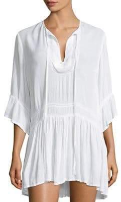 Hermanny ViX by Paula Agata Flounce Shirt Dress