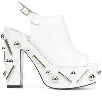 Donald J Pliner NORRA, Embellished Calf Leather Platform Sandal