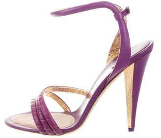 Salvatore Ferragamo Leather Ankle-Strap Sandals