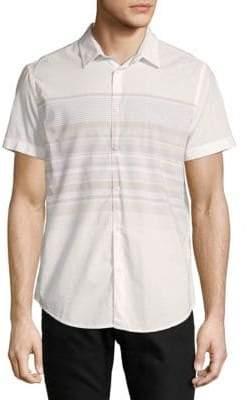 Calvin Klein Jeans Stripe Cotton Button-Down Shirt