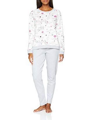 Calvin Klein Nuit Secrà ̈te Women's's Af.Bow.py Pyjama Set Grey (Anthracite Anthra/Gris , Large