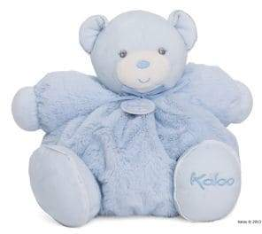 Kaloo Large Chubby Plush Blue Rattle Bear