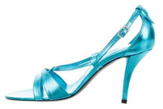 Roger Vivier Sex And The City Metallic Sandals w/ Tags Blue Sex And The City Metallic Sandals w/ Tags