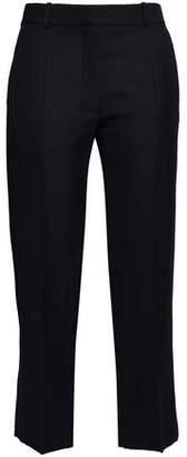 Victoria Beckham Cropped Canvas Straight-leg Pants