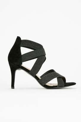 5c00b6a82c4 WallisWallis Black Elastic Cross Strap Sandal