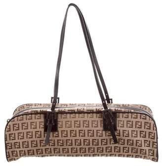 ba06b66815 Fendi Leather-Trimmed Zucchino Bag