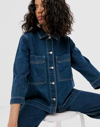 Weekday denim jacket co-ord in dream blue