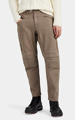Neil Barrett Men's Cotton Low-Rise Crop Biker Pants - Beige, Tan