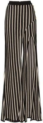 Balmain stripe wrap trousers