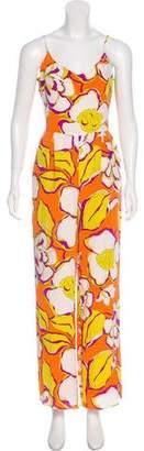 Trina Turk Printed Silk Jumpsuit