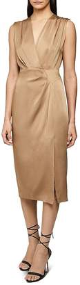 Reiss Elaini Crossover Midi Dress