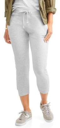 Generic Women's Athleisure French Terry Jogger Capri with Front Pockets