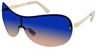 Southpole Women's 444sp-Gldbr Shield Sunglasses