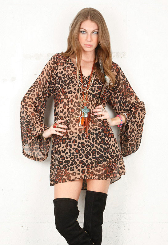 Singer22 Sandy Long Sleeve in Cheetah - by show me your Mumu