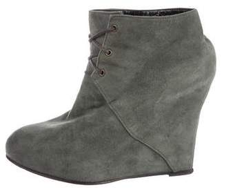 Opening Ceremony Suede Wedge Booties