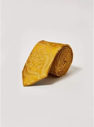 Topman Mens Gold Jacquard Tie