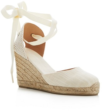 Soludos Tall Lace Up Espadrille Wedge Sandals $95 thestylecure.com