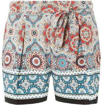 Dorothy Perkins Womens Multi Colour Border Tile Shorts