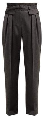 A.P.C. Isa High Rise Wool Blend Trousers - Womens - Grey