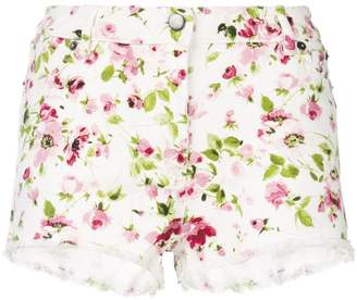 Faith Connexion floral print denim shorts