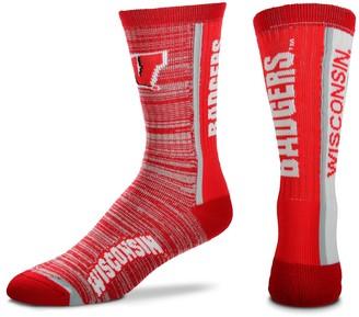 For Bare Feet Adult Wisconsin Badgers Bar Stripe Crew Socks