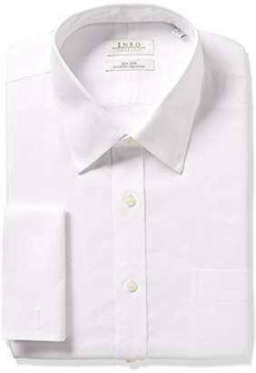 Enro Men's Classic Fit Solid Point Collar French Cuff Dress Shirt
