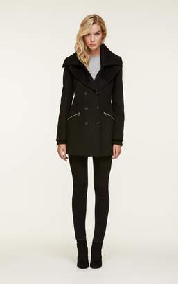 Soia & Kyo FIORELLA classic wool coat with removable rib collar