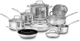 Cuisinart 14-Piece Non-Stick Stainless Steel Cookware Set