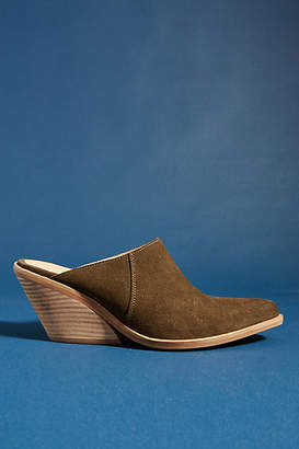 Anthropologie Suede Mules
