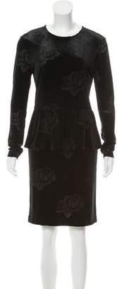 Ganni Long Sleeve Knee-Length Dress w/ Tags