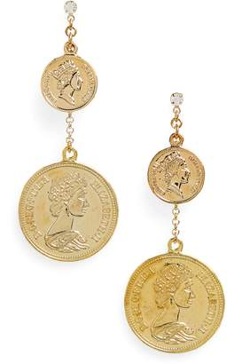 Shashi Double Coin Earrings